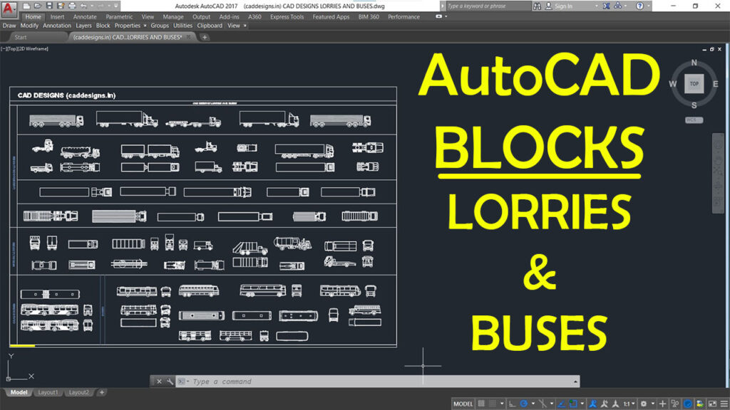 Download Free AutoCAD Blocks file – LORRIES AND BUSES