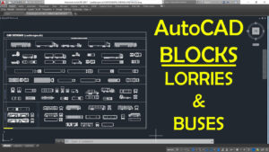 AutoCAD LORRIES AND BUSES Blocks for projects