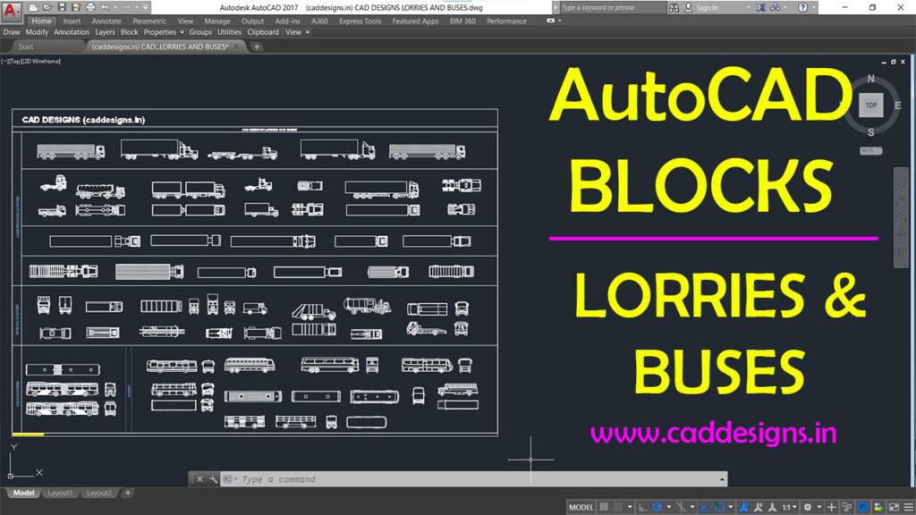 (caddesigns.in) LORRIES AND BUSES AutoCAD Blocks
