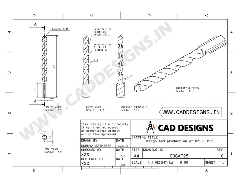 Design-and-production-of-Drill-bit-www.caddesigns.in_