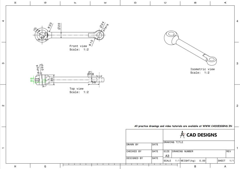 Mechanical Practice Drawing Sheets for AutoCAD, CATIA, NX, SOLIDWORKS, and ProE (www.caddesigns.in)_04
