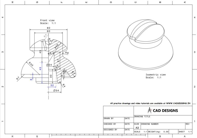 Mechanical Practice Drawing Sheets for AutoCAD, CATIA, NX, SOLIDWORKS, and ProE (www.caddesigns.in)_05