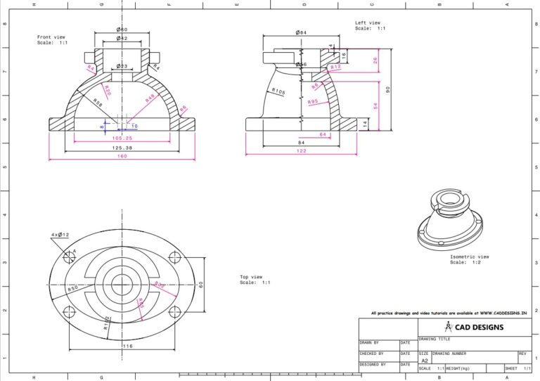 Mechanical Practice Drawing Sheets for AutoCAD, CATIA, NX, SOLIDWORKS, and ProE (www.caddesigns.in)_06