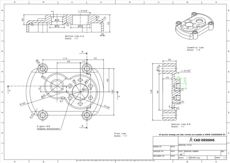 Mechanical Practice Drawing Sheets for AutoCAD, CATIA, NX, SOLIDWORKS, and ProE (www.caddesigns.in)_07