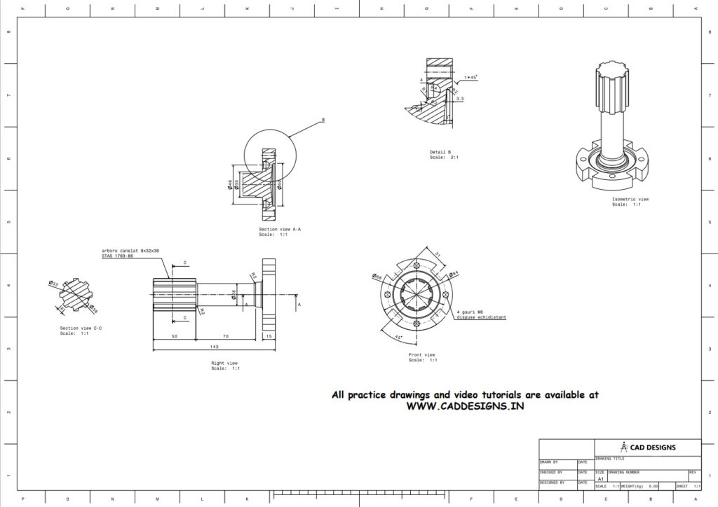 Mechanical Gear tool Practice Drawing Sheets for AutoCAD, CATIA, NX, SOLIDWORKS, and ProE (www.caddesigns.in)_18