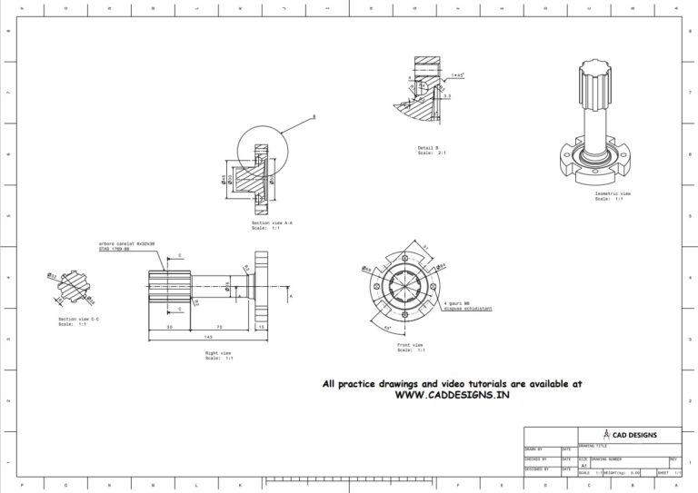 Mechanical Gear tool Practice Drawing Sheet for AutoCAD, CATIA, NX, SOLIDWORKS, and ProE (www.caddesigns.in)_18