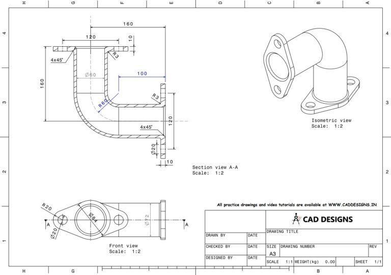 Mechanical Practice Drawing Sheets for AutoCAD, CATIA, NX, SOLIDWORKS, and ProE (www.caddesigns.in)_20
