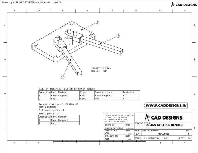 Mechanical Practice Drawing Sheets for AutoCAD, CATIA, NX, SOLIDWORKS, and ProE (www.caddesigns.in)_26.2