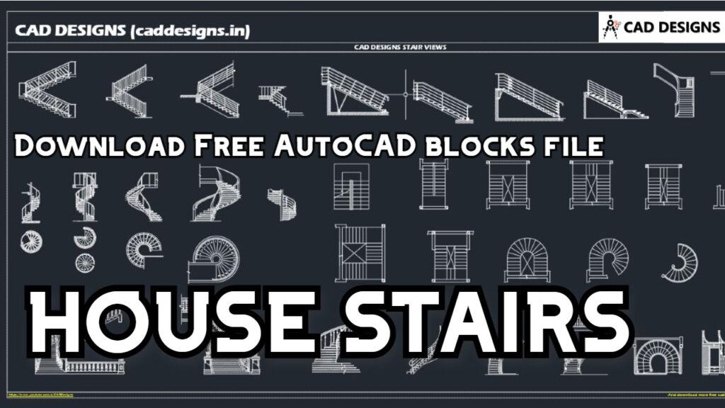 HOUSE STAIR VIEWS AutoCAD Blocks (caddesigns.in)